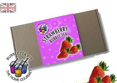 Bubble Tea Making Kit For Beginners - Strawberry Flavour • 8.99£