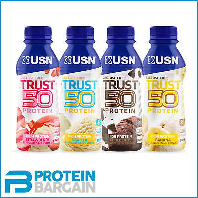 £15.95 • Buy USN Trust 50 Protein - 6 X 500ml RTD - 50g Protein Per Serving - Lactose Free