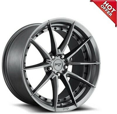 $1462.34 • Buy 4ea 19x8.5/19x9.5 Staggered Niche Wheels M197 Sector Gloss Anthracite Rims(S9)