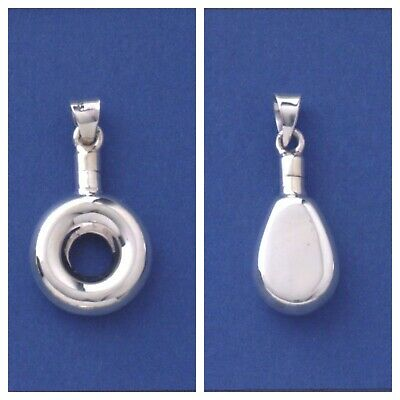 £12.95 • Buy 925 Sterling Silver Perfume Bottle Pendant With Or Without 18 Belcher Chain