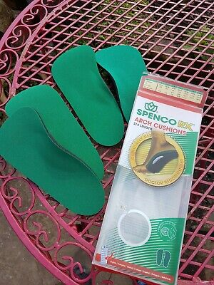 £17.50 • Buy Spenco 3/4 Length Insoles Arch Cushions Size 2 For Uk 5/6 Shoe (2 Pairs)