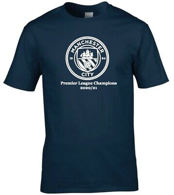 Manchester City Premier League Champions Premium Cotton T-shirt • 9.99£