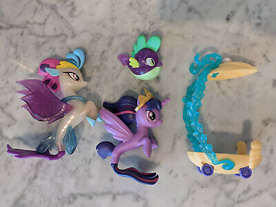 My Little Pony Queen Novo, Spike, Twilight Sparkle + Undersea Carriage Seapony • 28.27£