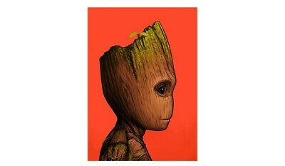 £15 • Buy Mike Mitchell Baby Groot GOTG Portrait Limited Signed Print Poster Marvel Mondo