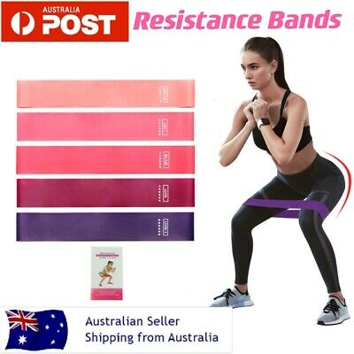 AU13.96 • Buy 5Pcs Resistance Bands Power Heavy Duty Exercise Home Gym Yoga Fitness Loop Booty