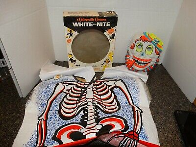 $ CDN37.58 • Buy Vintage Collegeville  White For Night Ghost  Costume 1960's