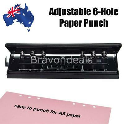 AU24.95 • Buy Adjustable Sheet Paper Punch Puncher 6-Hole Scrapbooking 6 Ring Binder Sheet NEW