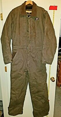$43.98 • Buy Dickies Brown Insulated Cotton Duck MED Coveralls Overalls Cold Weather Winter