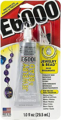E6000 Glue 29.5ml Jewellery & Bead With Precision Tips Nozzles Waterproof Clear • 24.99£