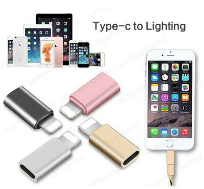 £3.69 • Buy TYPE C FEMALE TO IPHONE ADAPTER FOR IPHONE 12 11 X PRO MAX XS XR SE 8 7 6 PLUS 5