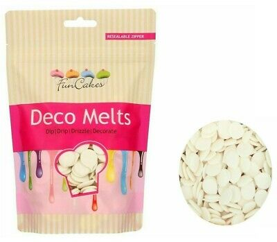 FunCakes Deco Candy Melts - Cake Pop Buttons - White 250g • 5.99£