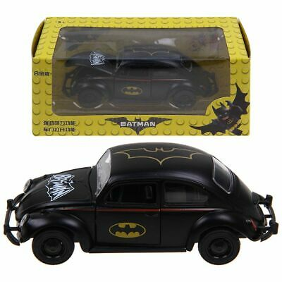Batman Pattern VW Beetle 1:32 Model Car Diecast Gift Toy Vehicle Black For Kids • 6.99£