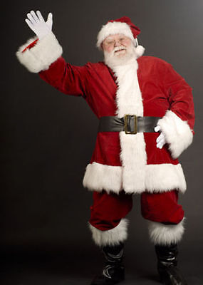 £59.99 • Buy Mens Professional Quality Santa Claus Father Christmas Suit Costume Xmas Outfit