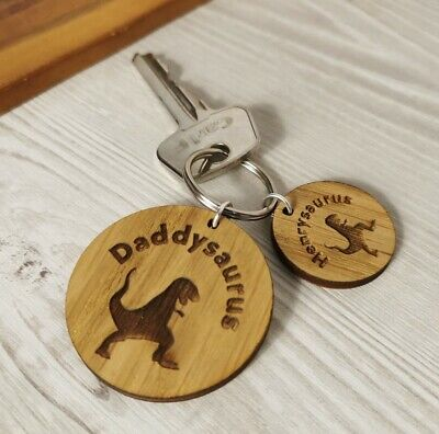 £3.49 • Buy  Personalised Fathers Day Keyring Wooden Birthday Gift Present Dad Grandad Daddy