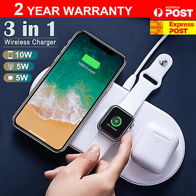 AU19.99 • Buy Wireless Charger Qi Fast Charging Pad IPhone 12 11 XS XR 8 Samsung S21 S20 S10