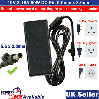 £11.99 • Buy For Samsung N193 V85 N17908 AC Adapter Charger Power Supply 19V 3.16A