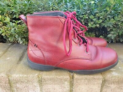 AU59.99 • Buy Ziera Red Lace Up Boots Size 40