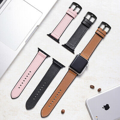 AU17.99 • Buy 42/44mm Silicone Leather IWatch Band For Apple Watch Series SE 6 5 4 3 2 38/40mm