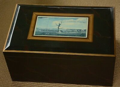 $199 • Buy Large Maitland-Smith Decorative Box With Beautiful Old Art Print On The Top