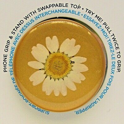 AU15.29 • Buy PopSockets Phone Grip Stand PRESSED FLOWER DAISEY WHITE PopGrip Swappable Top
