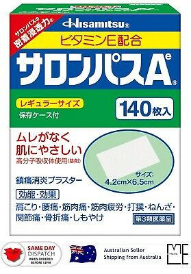 AU30.88 • Buy Japan Hisamitsu SALONPAS Ae 140 Sheets Pain Relief Patch MADE IN JAPAN AU STOCK