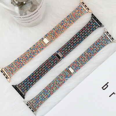 AU18.99 • Buy For Apple Watch Band IWatch Series 6 5 4 3 2 1 Lady Bling Stainless Steel Strap