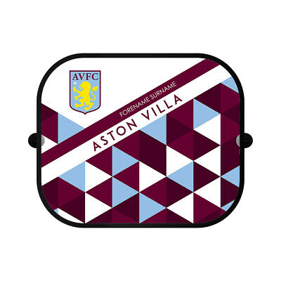 PERSONALISED Aston Villa FC Gifts - Patterned Car Sunshade - Official • 16.95£