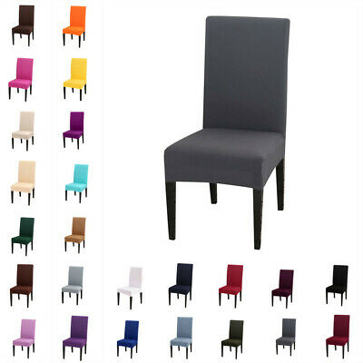 £4.99 • Buy UK Dining Chair Seat Covers Slip Stretch Wedding Banquet Removable Protector