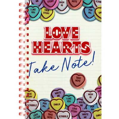 A5 Note Pad Spiral Twinwire Love Hearts Notebook Sheet Lined Hardback Multicolor • 3.99£