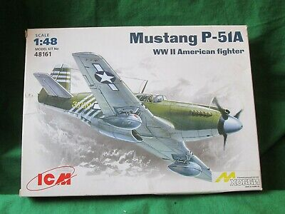 Icm Ww2 Us North American Mustang P-51a Fighter  Model Kit 1/48 #48161 • 14.99£