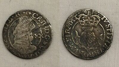 £75 • Buy King Charles 1st Silver Hammered Scottish 20pence I Coin