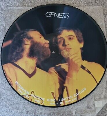 Genesis Interview Picture Disc BAK 2008 Talking Pictures Excellent + Unplayed • 5.99£