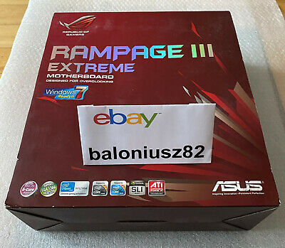 $ CDN877.39 • Buy !!! NEW Very Rare !!! Asus ROG Rampage III Extreme Motherboard Intel X58 LGA1366