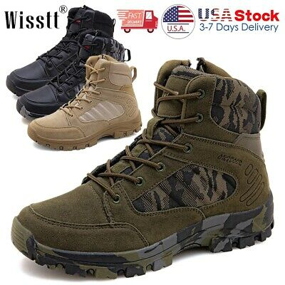 $39.99 • Buy Mens Army Military Boots Waterproof Combat Work Shoes Camping Tactical SWAT Size
