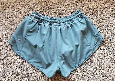 $ CDN74.99 • Buy Lululemon Run Hotty Hot Shorts FROSTED PINE   Sz 6 Reg  EUC!!