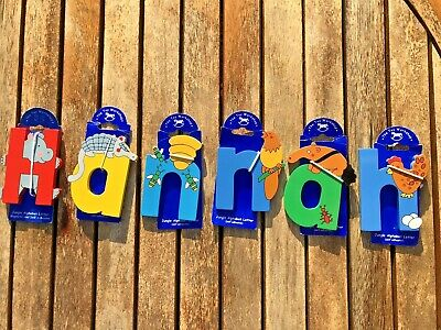 £5 • Buy 'Hannah' Wooden Jungle Animal Alphabet Letters Self Adhesive - The Toy Workshop