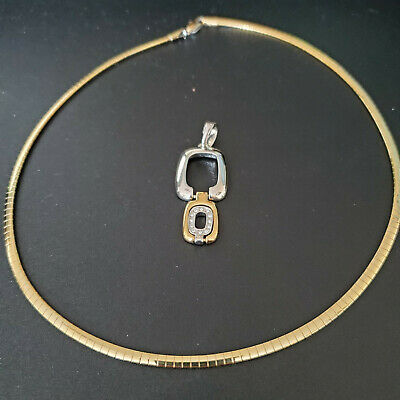 $ CDN75.18 • Buy Lot Of 3  Lia Sophia Reversible Trish Gold/silver Necklace #325 With 2 Slides