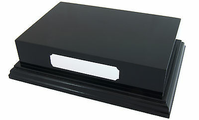 £21.95 • Buy Black Satin Display Plinth Base 6x4  Top For Ornaments Trophy Can Engrave Plaque