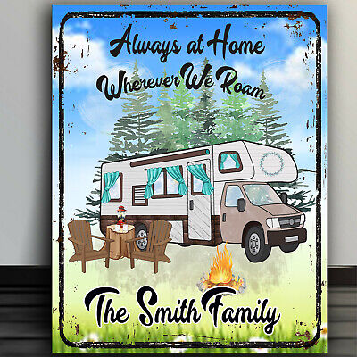£8.95 • Buy Personalised CAMPER VAN  MOTORHOME RV METAL BLUE Sign Gift MH002