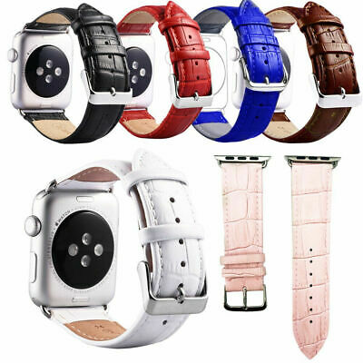 AU10.95 • Buy Genuine Leather For Apple Watch Band IWatch Strap Series 6 5 4 3 2 38 40 42 44mm