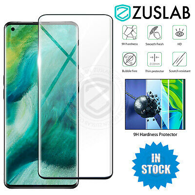 AU7.95 • Buy For OPPO Find X2 X3 Pro Neo Lite 5G ZUSLAB Full Tempered Glass Screen Protector