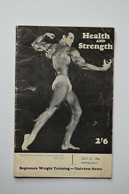 £9 • Buy Health And Strength Magazine Steve Reeves