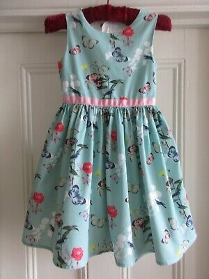 AU9.02 • Buy John Lewis Butterfly Print Party Dress - Size 7 Years
