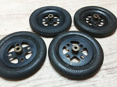 £12.99 • Buy Meccano 4 X #142a DUNLOP MECCANO 1930s Fine Tread Tyres On 2  Pulley