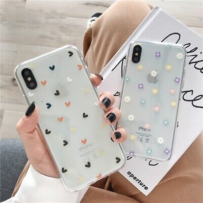 AU4.30 • Buy Ladies Flower Love Heart Girl Cases For Iphone 11 X XS Max XR 6 6S 7 8 Plus Case