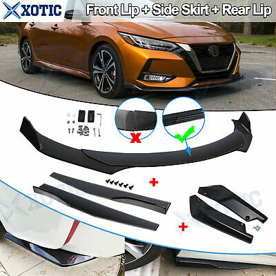 $169.92 • Buy Car Front Rear Bumper Lip Spoiler Splitter + Side Skirt Extension Kit For Nissan