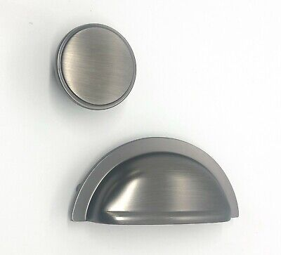 £2.99 • Buy Pewter Kitchen Cup Handle And Cupboard Knob Oxford FTD Range Carlisle Brass
