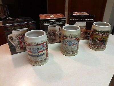 $ CDN74.98 • Buy LOT Of 3 Budweiser Short Steins Collector Series - 1989 - 1990 - 1991
