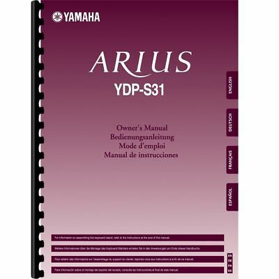 £8.74 • Buy Yamaha YDP-S31 Digital Piano Owner's/ User Manual (Pages: 44)