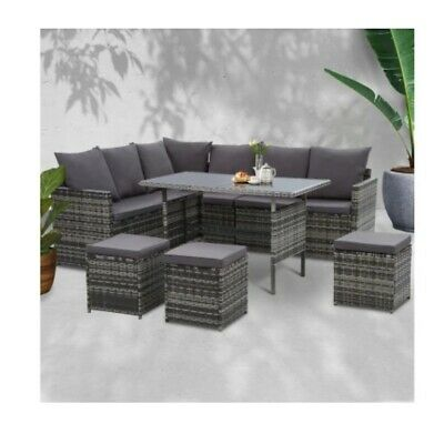 AU850 • Buy Outdoor Furniture Dining Setting Sofa Set Lounge Wicker 9 Seater